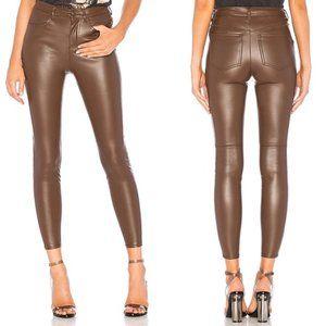 Free People Long & Lean Vegan Faux Leather Pants